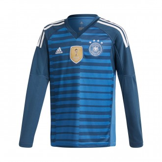 Jersey  adidas Kids Germany Goalkeeper 2017-2018 Home Trace royal-Blue-White