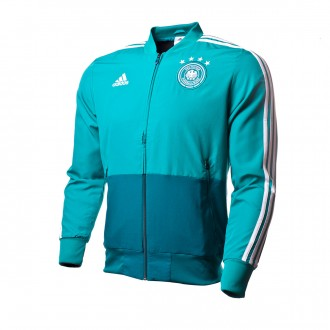 Chaqueta  adidas Previa Alemania 2017-2018 Green-Real teal-White