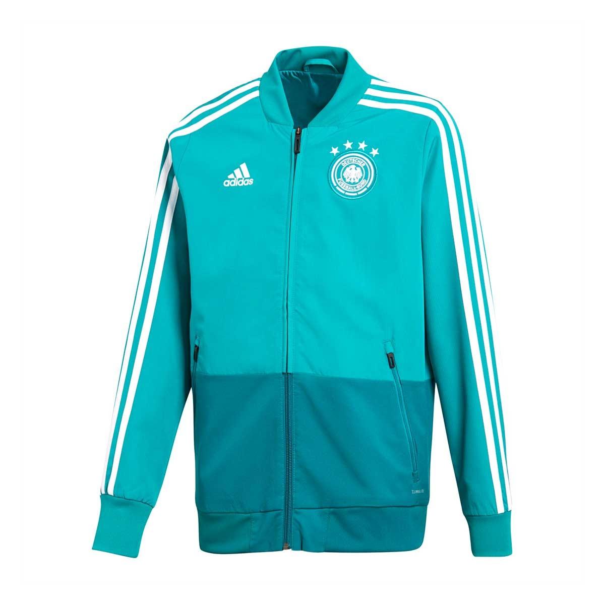 Chamarra adidas Previa Alemania 2017-2018 Niño Green-Real teal-White -  Soloporteros es ahora Fútbol Emotion 83ee9c65c6a22