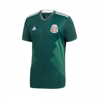 Camiseta  adidas Mexico Primera Equipación 2017-2018 Collegiate green-White
