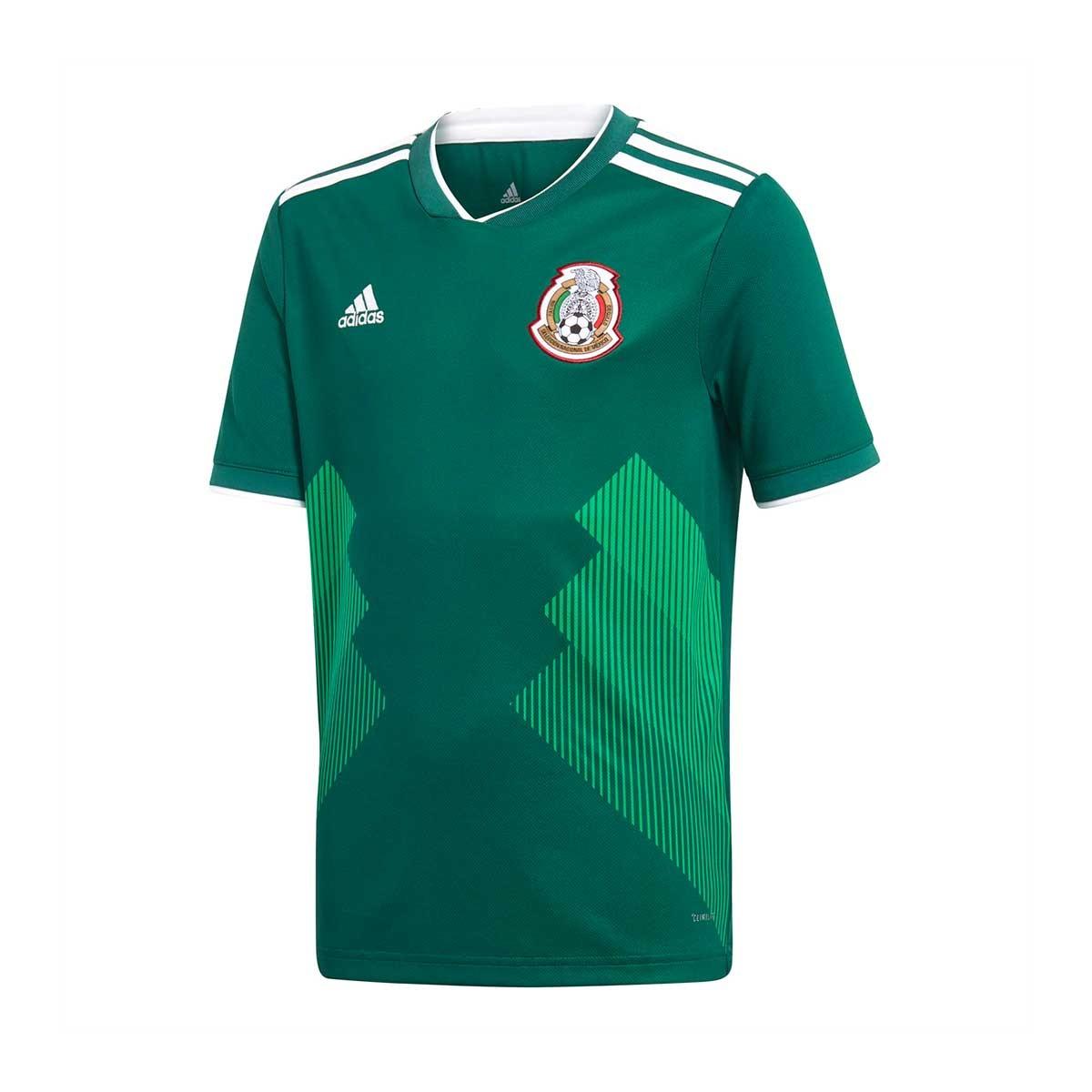 1900532920e5f Camiseta adidas Mexico Primera Equipación 2017-2018 Niño Collegiate  green-White - Tienda de fútbol Fútbol Emotion