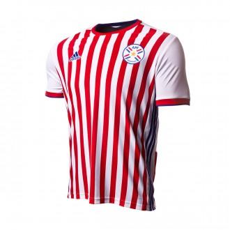 Camisola  adidas Paraguai Equipamento Principal 2017-2018 White-Red-Blue