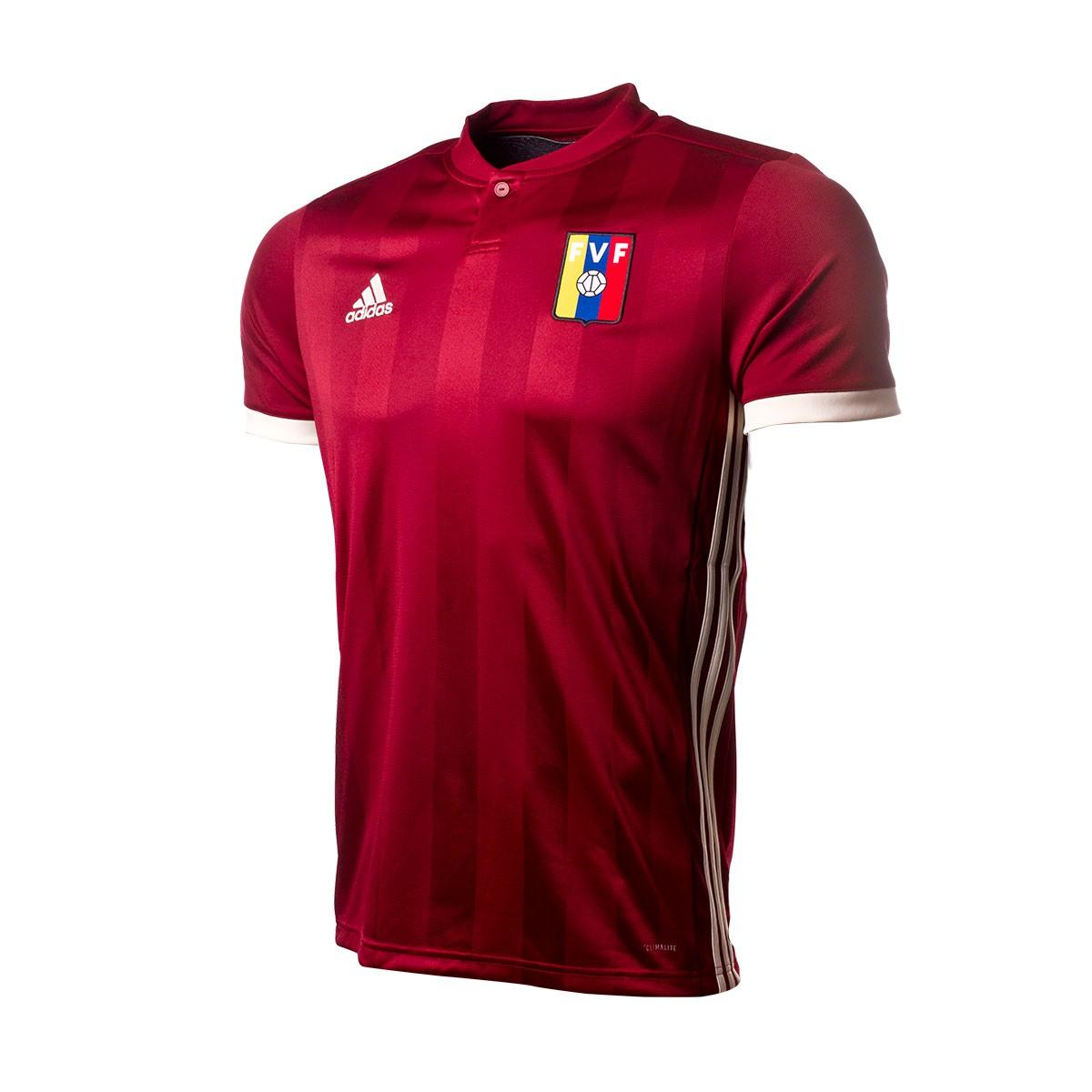 Playera adidas Venezuela Primera Equipación 2017-2018 Collegiate  burgundy-Cram white - Soloporteros es ahora Fútbol Emotion 312ccfe127e