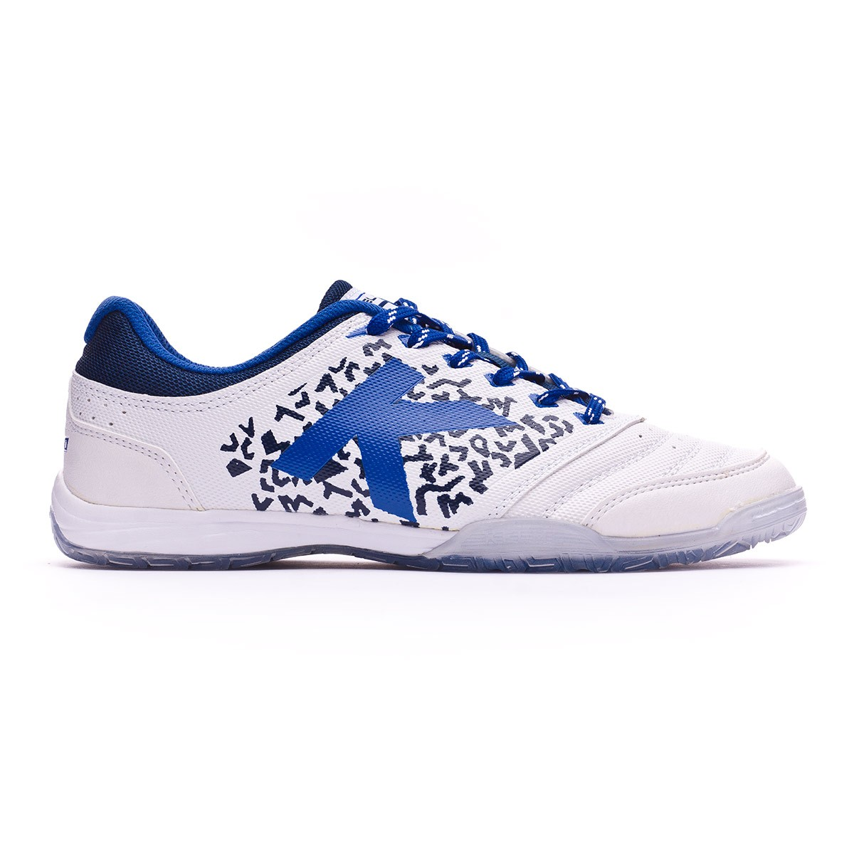 ce1df2220 Futsal Boot Kelme Subito 6.0 White-Indigo - Football store Fútbol Emotion