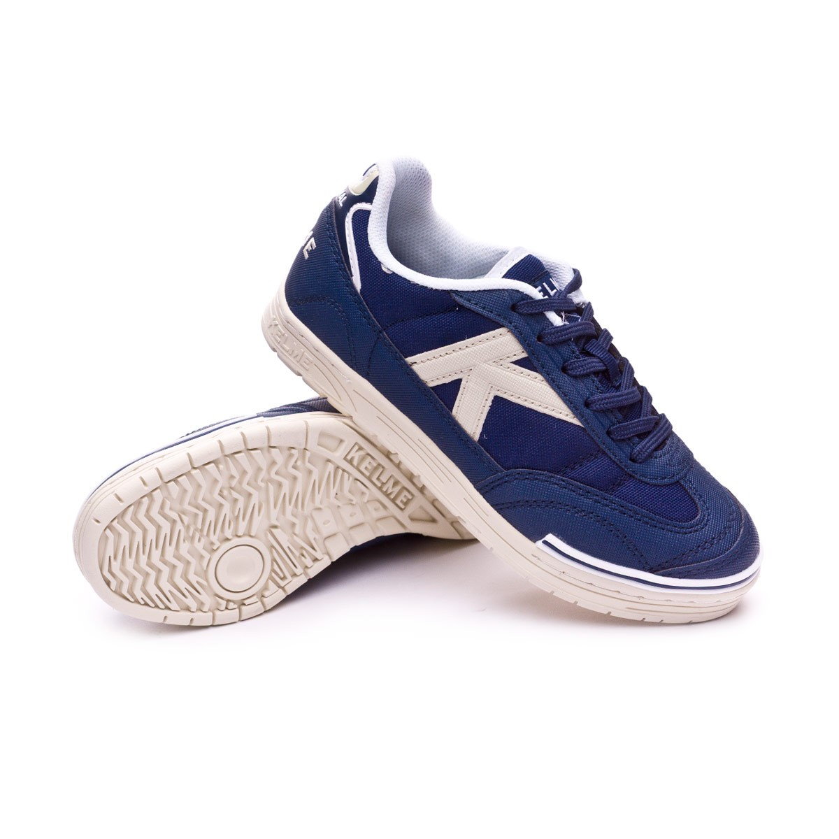 f7cb456c8d8 Futsal Boot Kelme Kids Trueno Sala 2.0 Navy blue-White - Football ...