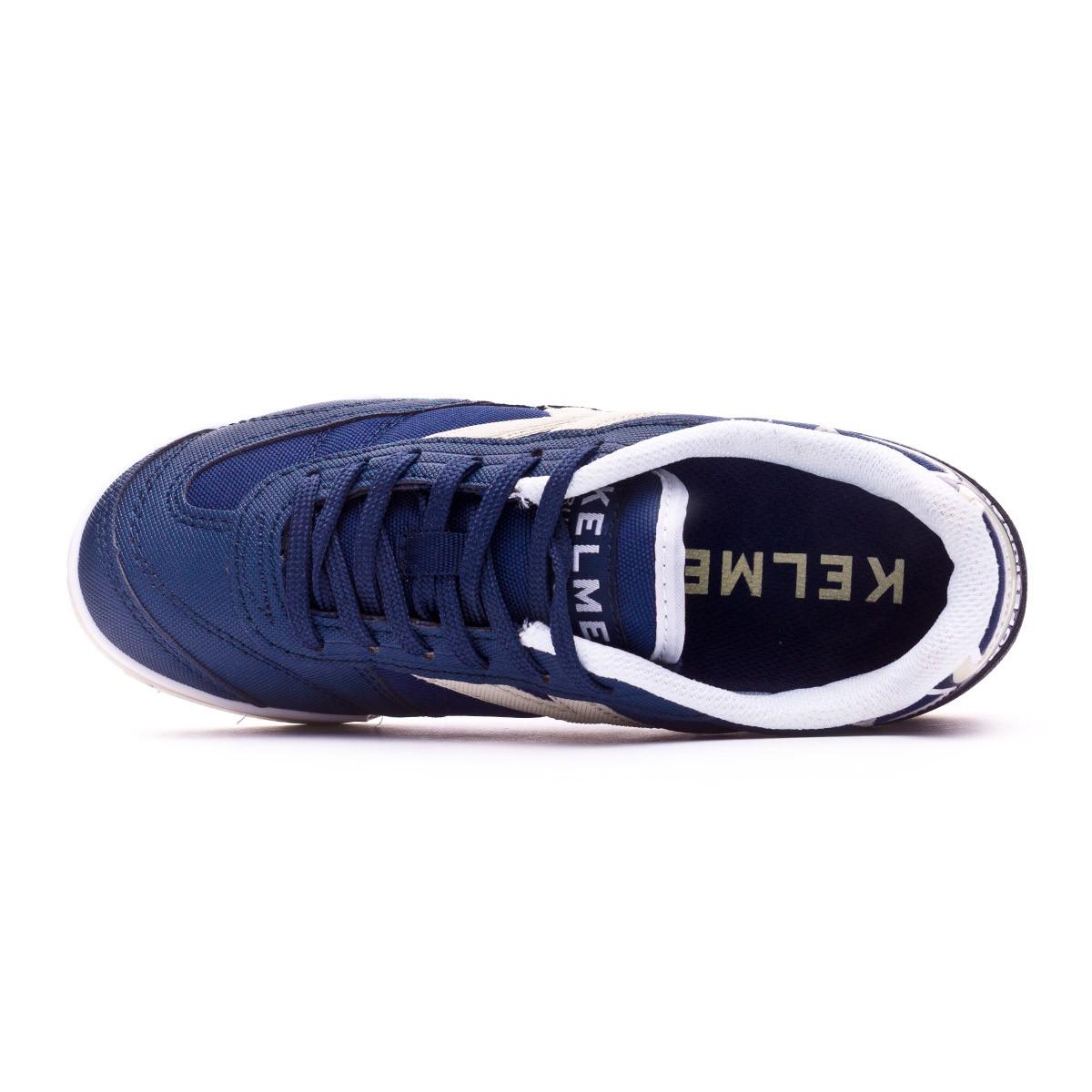 9e6cc482965 Futsal Boot Kelme Kids Trueno Sala 2.0 Navy blue-White - Football store  Fútbol Emotion