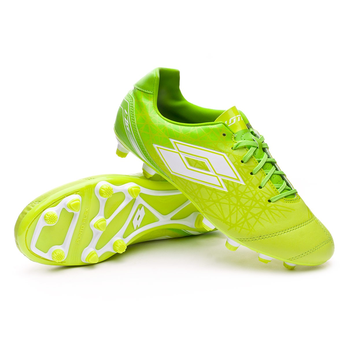 Zapatos de fútbol Lotto Zhero Gravity 700 X FG Green-White ... 4c923429f5916