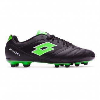 Chuteira  Lotto Stadio 300 II FG Black-Mint