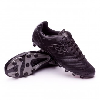Chuteira  Lotto Stadio 300 II FG Black-Tit grey