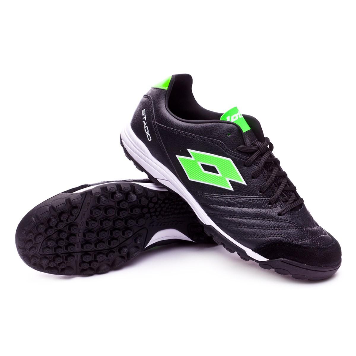 89e5dbf2f8496 Football Boot Lotto Stadio 300 II Turf Black-Mint - Tienda de fútbol ...