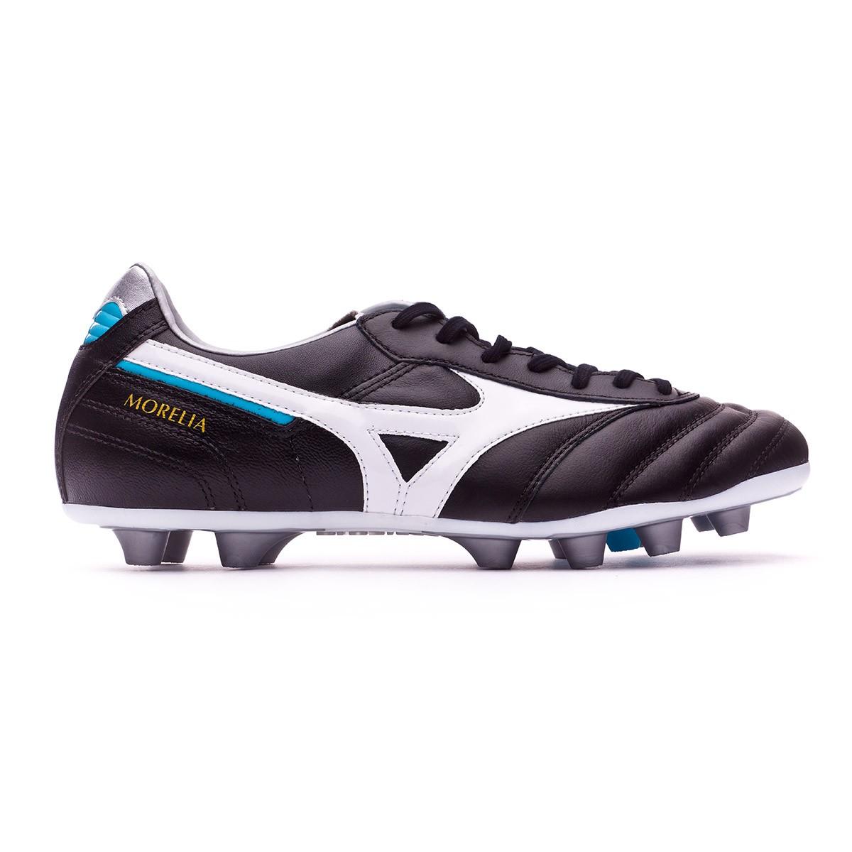 8ddcb444c6d78 Football Boots Mizuno Morelia II MD Black-White-Blue atomic - Tienda de  fútbol Fútbol Emotion