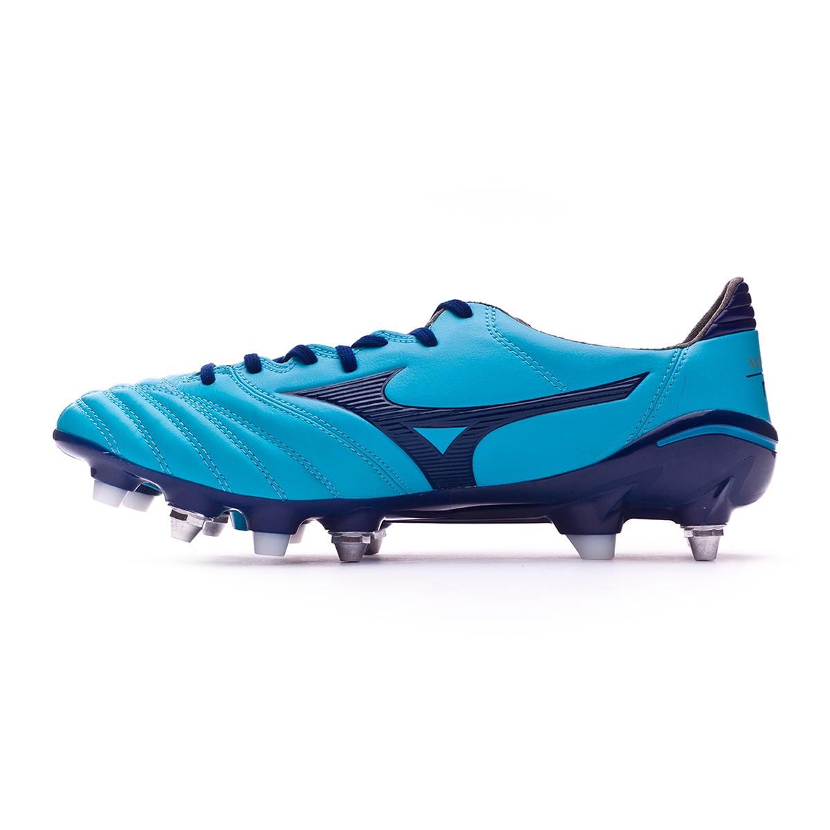 7bf5e83080e3a Bota de fútbol Mizuno Morelia NEO II MIX Blue Atomic-Blue depth - Tienda de fútbol  Fútbol Emotion