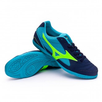 Futsal Boot  Mizuno Sala Club 2 IN Deep Blue sea-Green-Pea cok blue