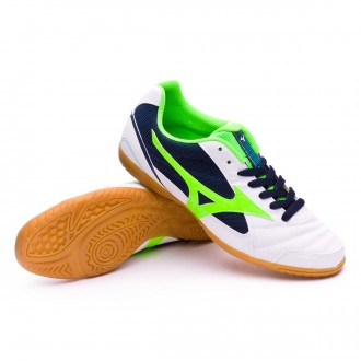 Futsal Boot  Mizuno Sala Club 2 IN White-Green-Dress blue