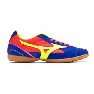 Zapatilla  Mizuno Sala Club 2 IN Surf the web-Safety yellow-Coral