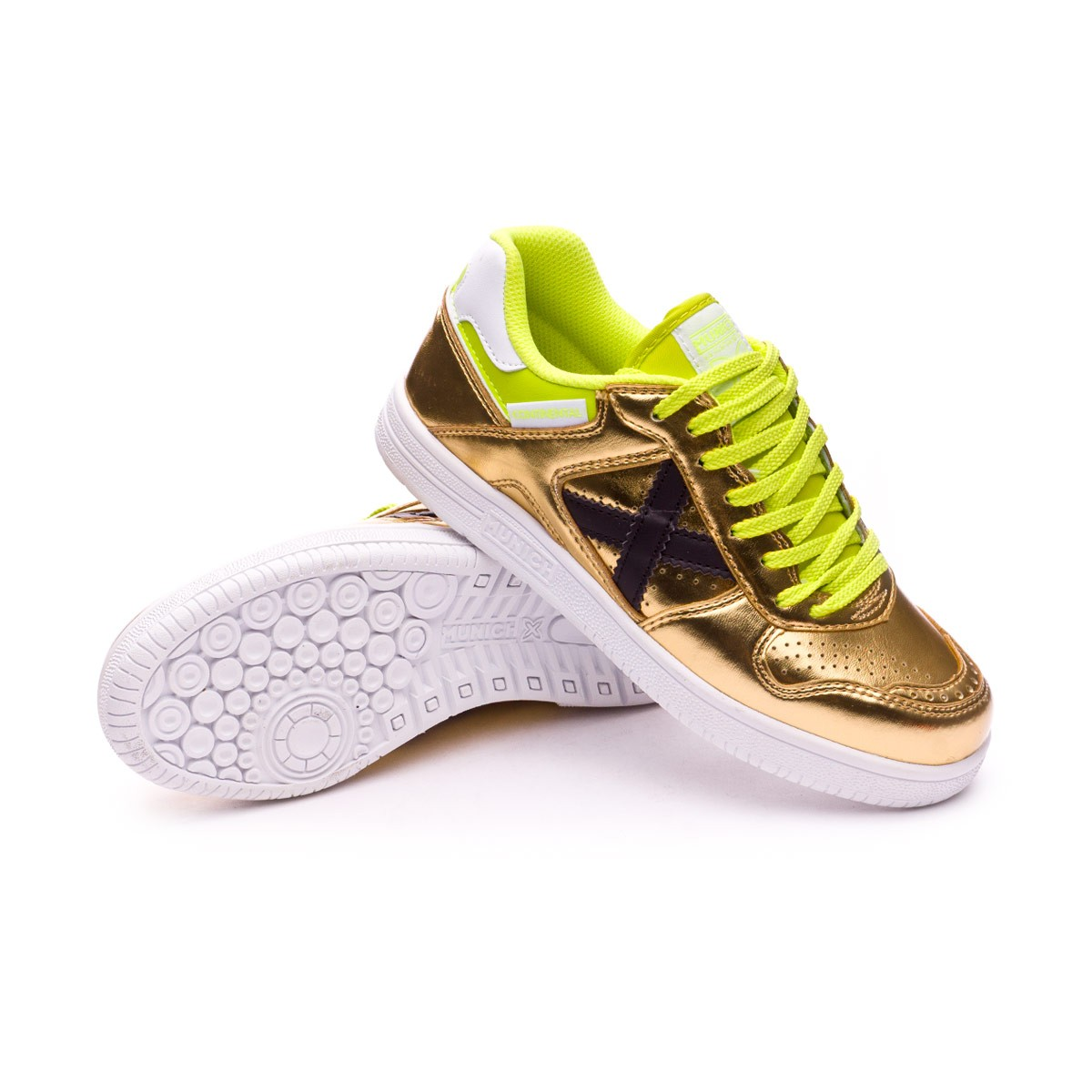 Futsal Boot Munich Kids Continental V2 Golden-White - Football store ... f45e91824df11