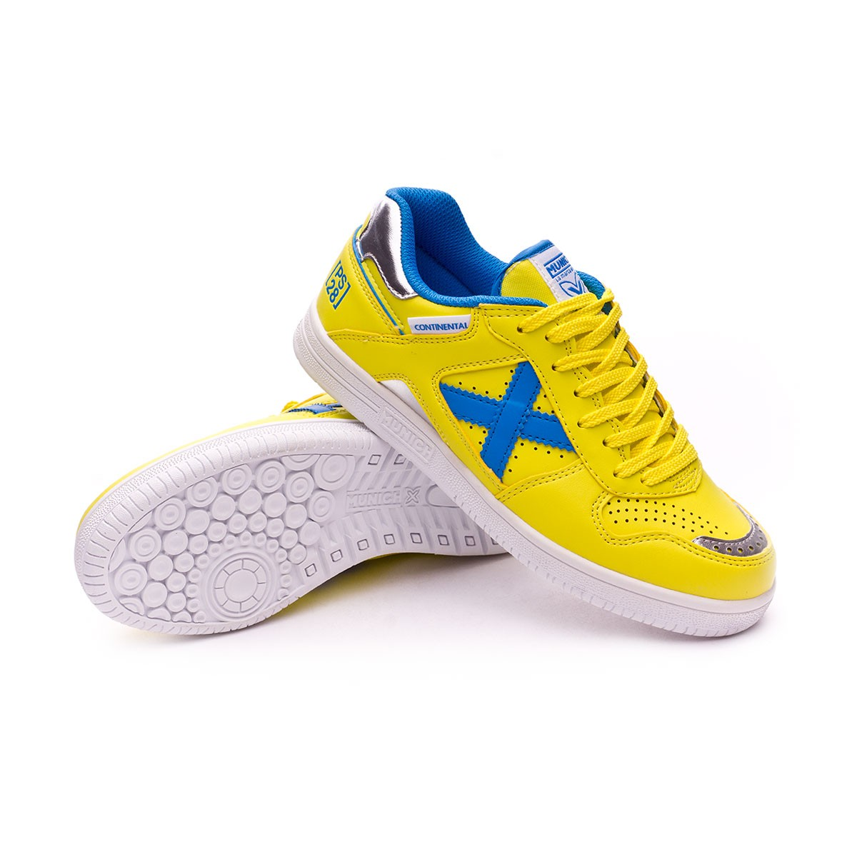 a0d508d5a17 Futsal Boot Munich Kids Continental V2 Paco Sedano Yellow-Blue - Football  store Fútbol Emotion