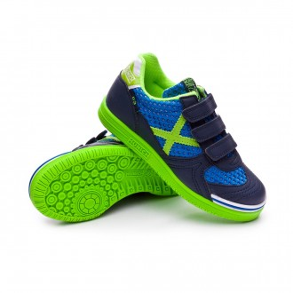 Futsal Boot  Munich Kids G3 Breath Velcro  Blue-Green