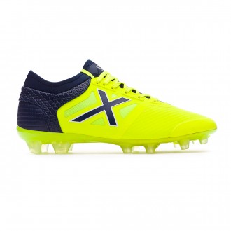 Football Boots Munich Tiga Lime-Navy blue