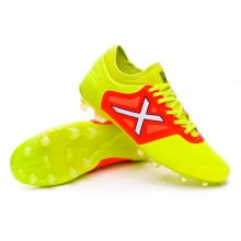 Football Boots Tiga Fluorescent yellow-Fluorescent Orange