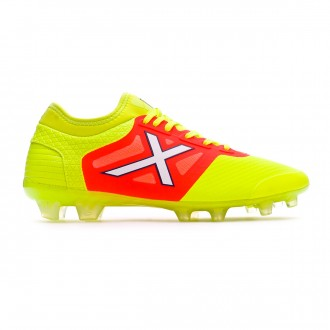 Chaussure de foot  Munich Tiga Jaune fluor - Orange fluor