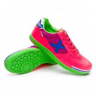 Futsal Boot  Munich G3 Shine Pink-Flúor-Green-Blue
