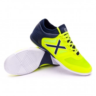 Futsal Boot  Munich Tiga Amarillo flúor-Navy blue