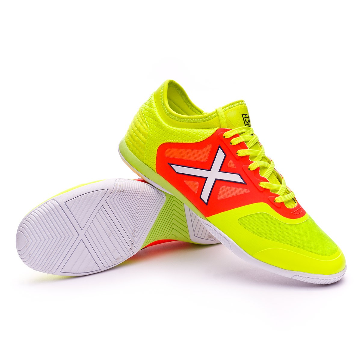 Futsal Boot Munich Tiga Indoor Fluorescent yellow-Fluorescent orange ... 0472d51a9659