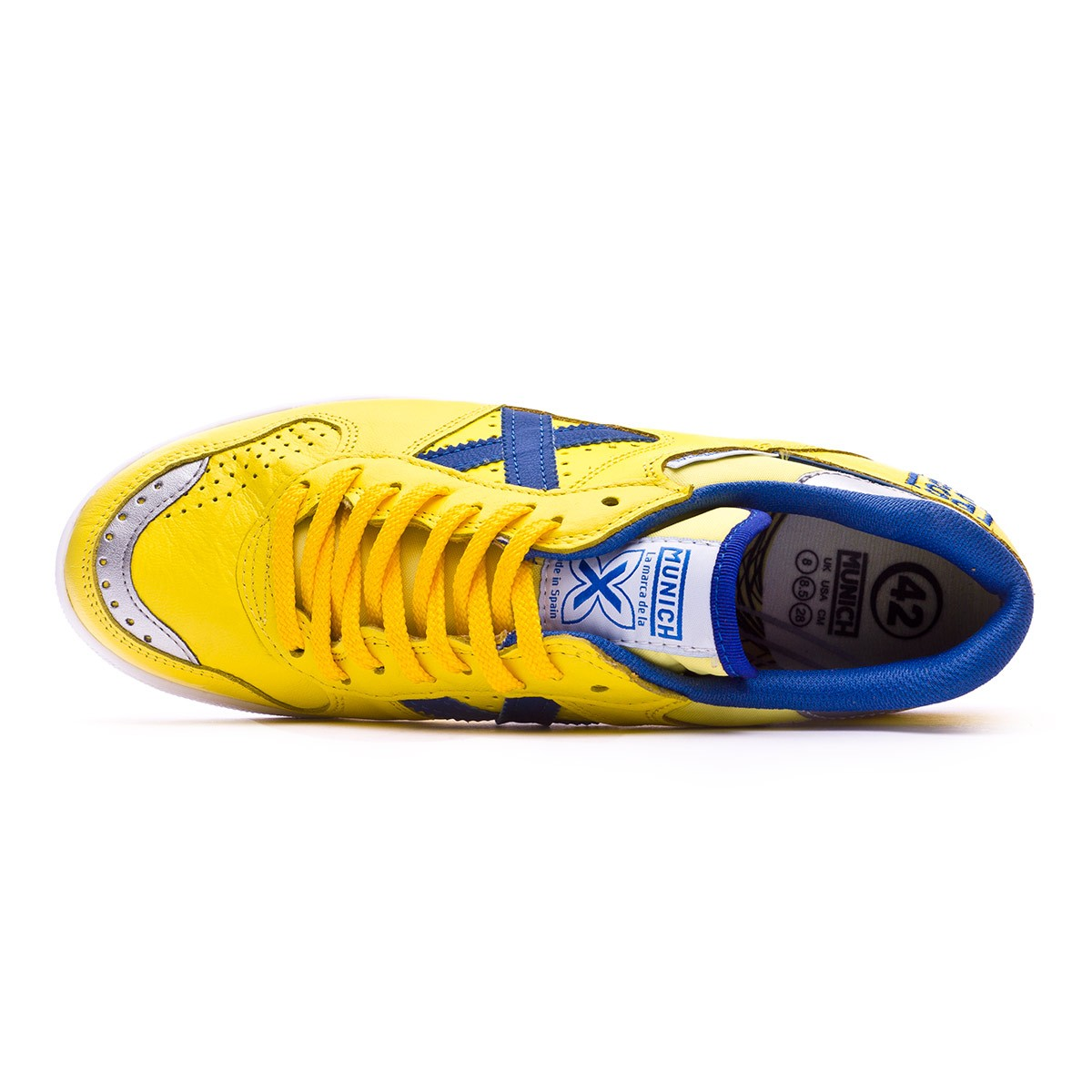 9bfb16ff647 Futsal Boot Munich Continental Paco Sedano Yellow-Blue - Football store  Fútbol Emotion