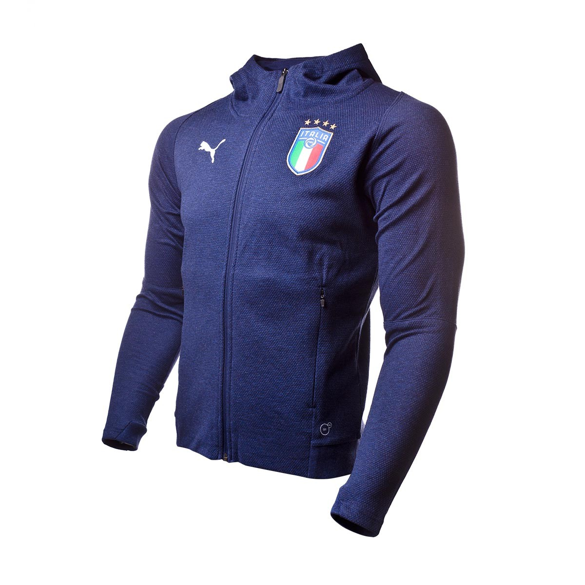 Sweatshirt Puma Italia Casual Performance 2017-2018 Peacoat heather ... d066dc4e5a332