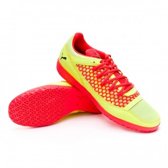 Sapatilha de Futsal  Puma 365 NF CT Fizzy Yellow-Red Blast-Puma Black