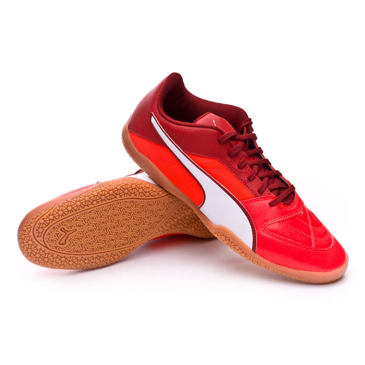 63974545e85 Futsal Boot Puma Gavetto II Red Blast-Puma White-Red Dahlia ...