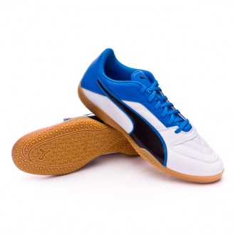 Sapatilha de Futsal  Puma Gavetto II Puma White-Puma Black-Electric Blue Lemonade