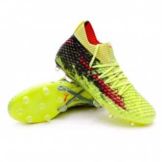 Boot  Puma Future 18.1 Netfit FG Fizzy Yellow-Red Blast-Puma Black