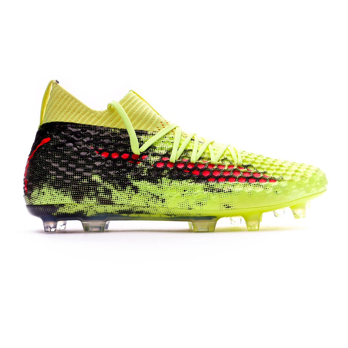64cb1368f9a85 Zapatos de fútbol Puma Future 18.1 Netfit FG Fizzy Yellow-Red Blast-Puma  Black - Tienda de fútbol Fútbol Emotion