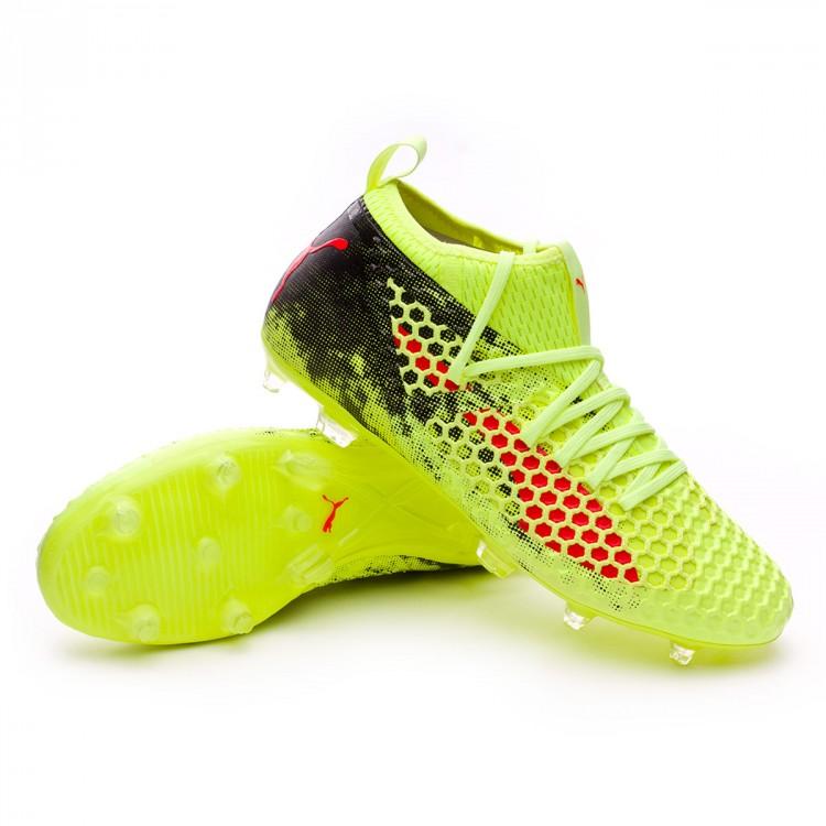 Boot Puma Future 18.2 Netfit FG Fizzy Yellow-Red Blast-Puma Black ... d3544f2f8