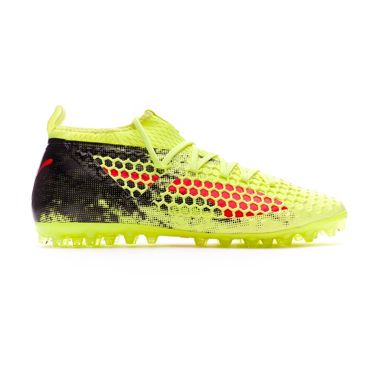 Blast Future fútbol Amarillo 2 18 MG Puma Zapatos Fizzy de MG 18 Netfit Rojo f55e2f