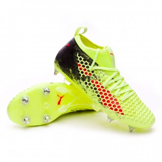 Scarpa  Puma Future 18.2 Netfit SG Fizzy Yellow-Red Blast-Puma Black
