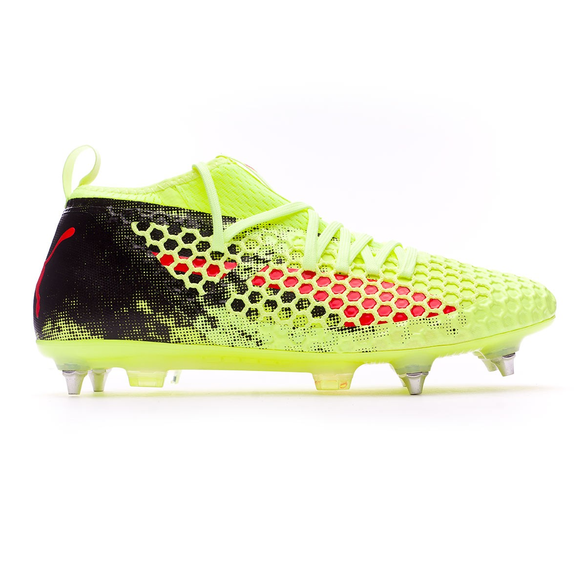 f945cb270ea Boot Puma Future 18.2 Netfit SG Fizzy Yellow-Red Blast-Puma Black -  Football store Fútbol Emotion
