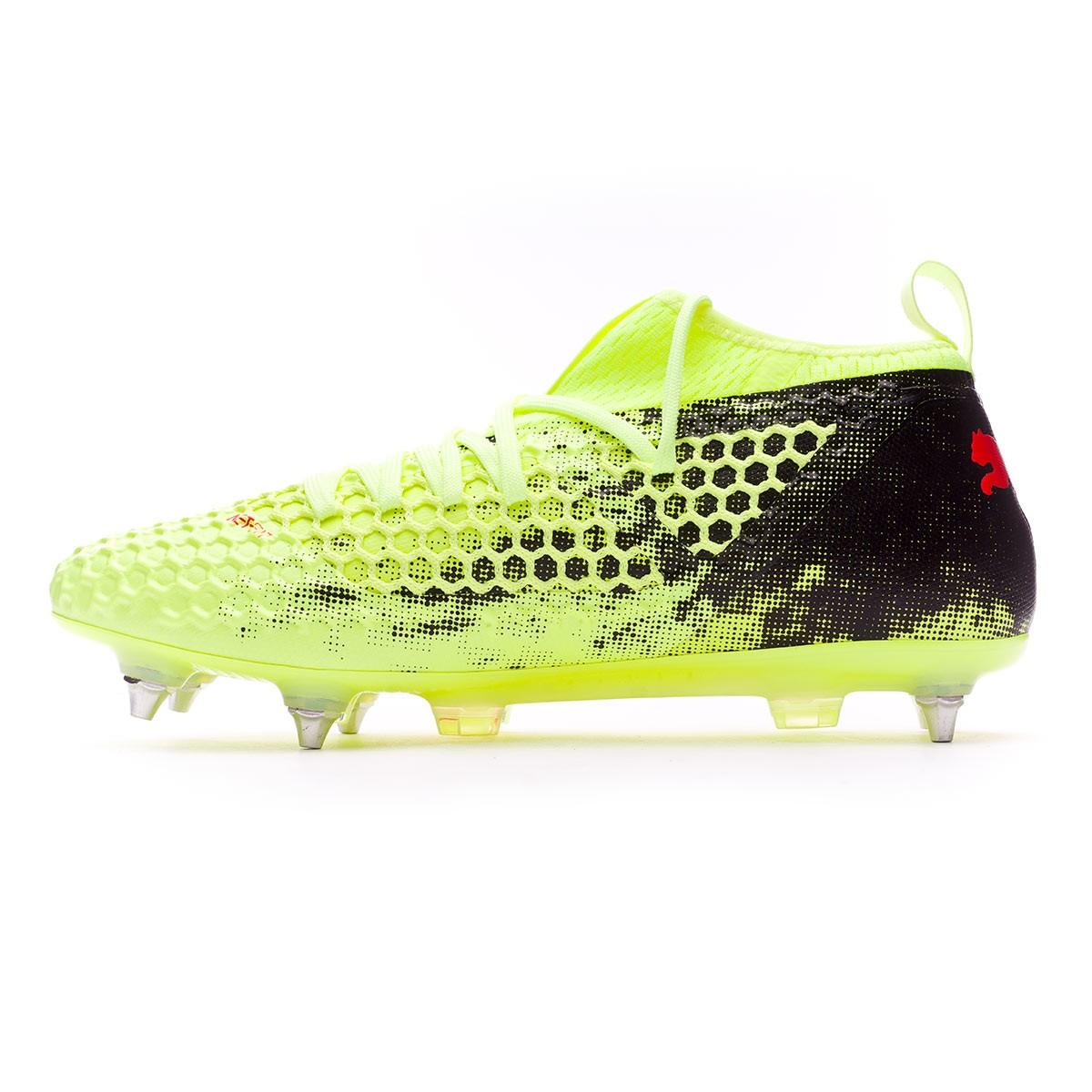 Boot Puma Future 18.2 Netfit SG Fizzy Yellow-Red Blast-Puma Black -  Football store Fútbol Emotion 140d7c64b