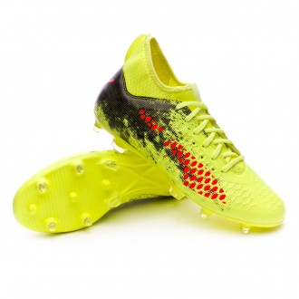 Bota  Puma Future 18.3 FG Fizzy Yellow-Red Blast-Puma Black