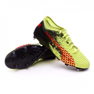 Bota  Puma Future 18.4 FG Fizzy Yellow-Red Blast-Puma Black