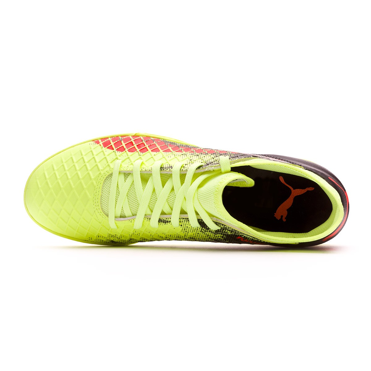 Football Boot Puma Future 18.4 Turf Fizzy Yellow-Red Blast-Puma Black -  Football store Fútbol Emotion 673e61e67e
