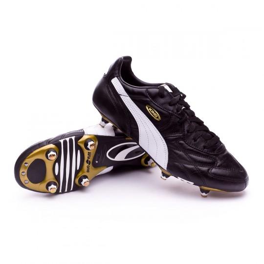 Football Boots Puma King Pro SG black-white-team gold - Fútbol Emotion