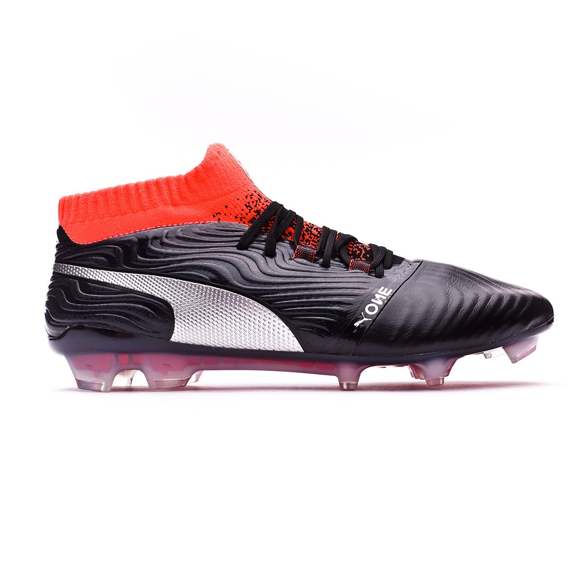 Boot Puma One 18.1 FG Puma Black-Puma Silver-Red Blast - Football ... d02e6df8568