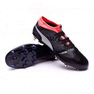 Boot  Puma One 18.2 AG Puma Black-Puma Silver-Red Blast