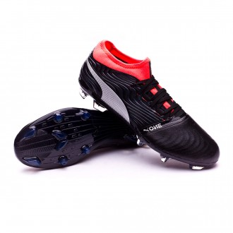 Boot  Puma One 18.2 FG Puma Black-Puma Silver-Red Blast