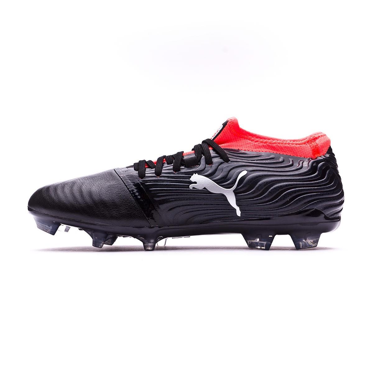 Boot Puma One 18.2 FG Puma Black-Puma Silver-Red Blast - Football store  Fútbol Emotion 3b6b0f356