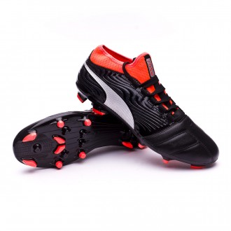 Boot  Puma One 18.3 AG Puma Black-Puma Silver-Red Blast