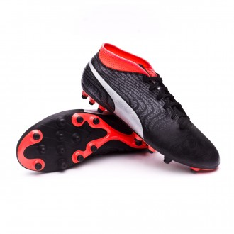 Boot  Puma One 18.4 AG Puma Black-Puma Silver-Red Blast